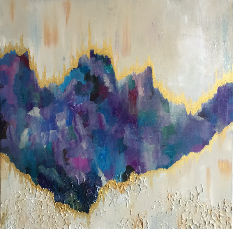 (CreativeWork) Blue Chasm by Kathrin Legg. Acrylic Paint. Shop online at Bluethumb.