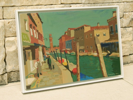 (CreativeWork) Boats on Murano, Venice by Tetyana Khytko. #<Filter:0x00007f979b80d498>. Shop online at Bluethumb.