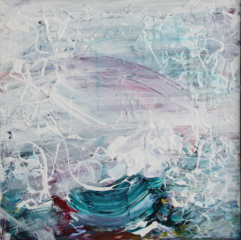 (CreativeWork) Spring Rain Across The Ocean by Annette Spinks. Acrylic Paint. Shop online at Bluethumb.