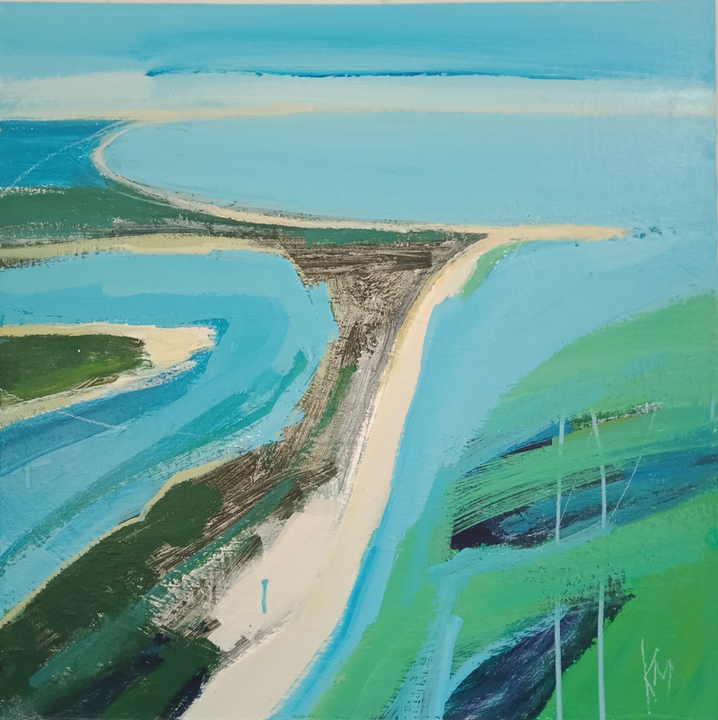 (CreativeWork) SANDBAR by Karen McPhee. Acrylic Paint. Shop online at Bluethumb.
