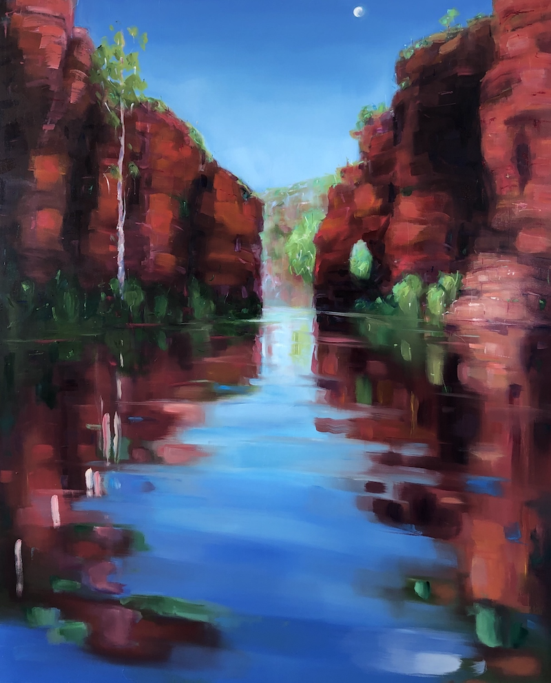 (CreativeWork) State of Flow North West by Jo Meredith. Oil Paint. Shop online at Bluethumb.