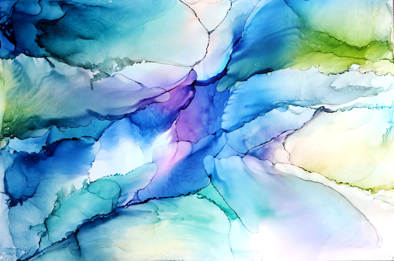 (CreativeWork) Rock pool  by Hilary Davies. Other Media. Shop online at Bluethumb.