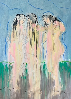 (CreativeWork) Rubens Girls by Shane Bowden. Acrylic Paint. Shop online at Bluethumb.