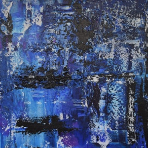 (CreativeWork) Ocean Canyons No. 2 by Ric Connors. acrylic-painting. Shop online at Bluethumb.