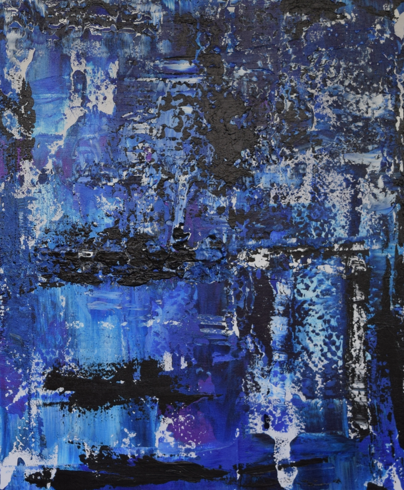 (CreativeWork) Ocean Canyons No. 2 by Ric Connors. Acrylic Paint. Shop online at Bluethumb.