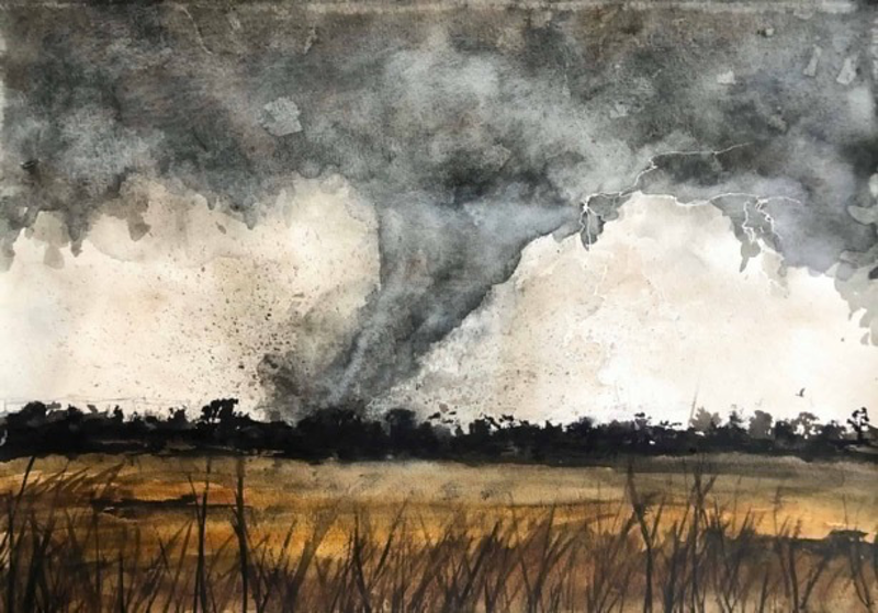 (CreativeWork) Nature's fury  by Tara Gale. Watercolour Paint. Shop online at Bluethumb.