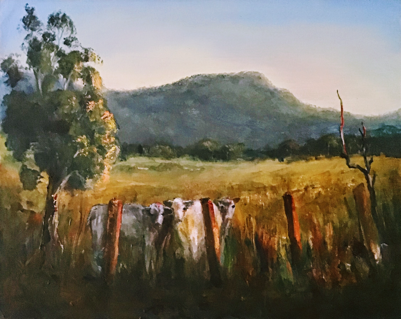 (CreativeWork) Early One Morning Near Mt Kembla by Colin Hadfield. Acrylic Paint. Shop online at Bluethumb.