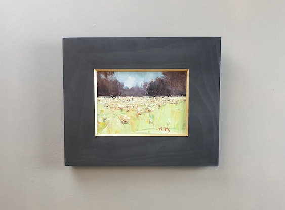 (CreativeWork) Moon light in Dandenong Range by Minhan Cho. Oil Paint. Shop online at Bluethumb.