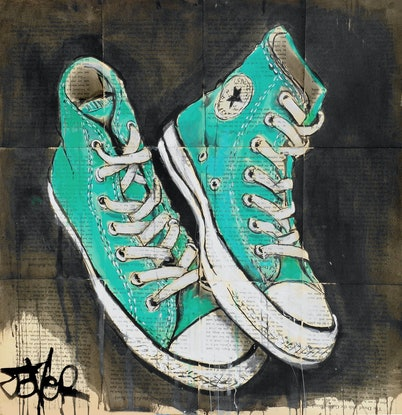(CreativeWork) ALL STARS BIG RED ONES by loui jover. Drawings. Shop online at Bluethumb.