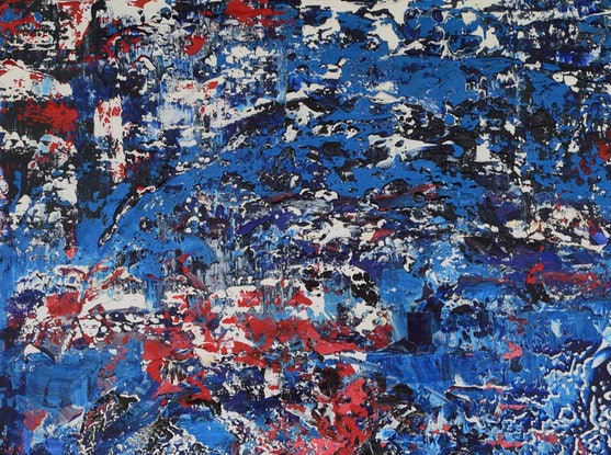 (CreativeWork) Turbulence by Ric Connors. Acrylic Paint. Shop online at Bluethumb.