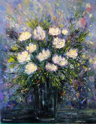 (CreativeWork) Essence of White by Sue Burton. Acrylic Paint. Shop online at Bluethumb.