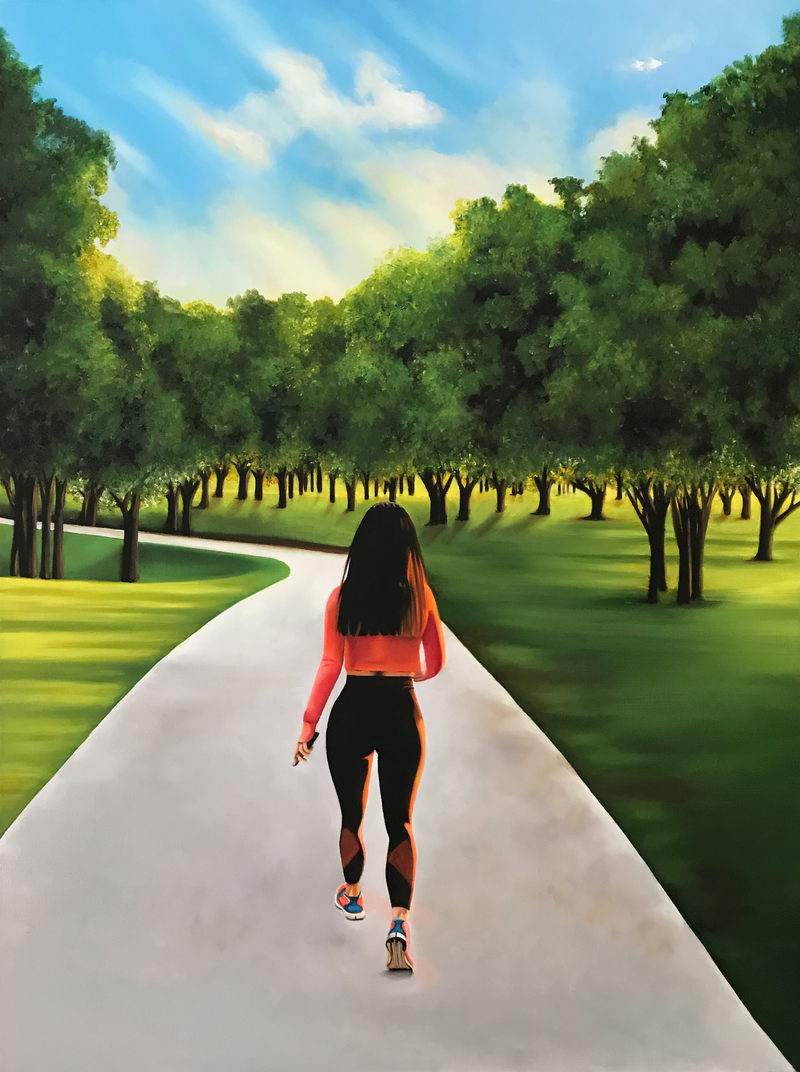 (CreativeWork) On the Path by Gerlinde Thomas. Oil Paint. Shop online at Bluethumb.