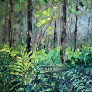 (CreativeWork) Augusta Oxygen by Jo Meredith. oil-painting. Shop online at Bluethumb.