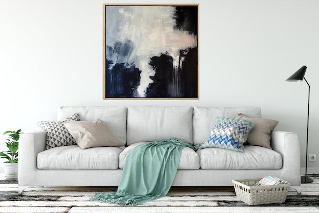 (CreativeWork) The Dark Night by Gareth Butcher. Acrylic Paint. Shop online at Bluethumb.