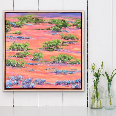 (CreativeWork) Abundance - framed oil painting by Eve Sellars. Oil Paint. Shop online at Bluethumb.