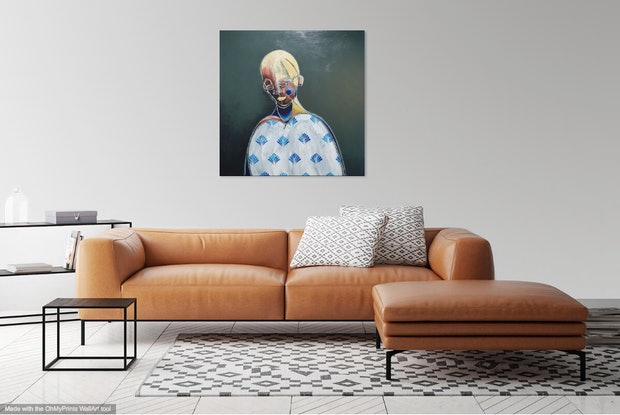 (CreativeWork) The Enamoured Ones by Sam Patterson-Smith. Acrylic Paint. Shop online at Bluethumb.