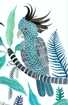 (CreativeWork) John Gould Takes a Trip 3 by Sally Browne. Watercolour Paint. Shop online at Bluethumb.