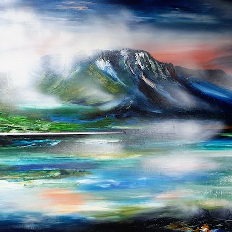 (CreativeWork) Elevation - large canvas 200cm x 120cm  by Alice Howell. Oil Paint. Shop online at Bluethumb.
