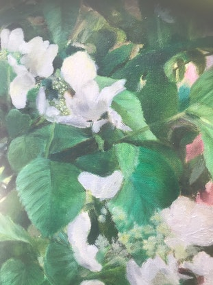 (CreativeWork) White silk robe by Adrian Mcgillivray. Oil Paint. Shop online at Bluethumb.