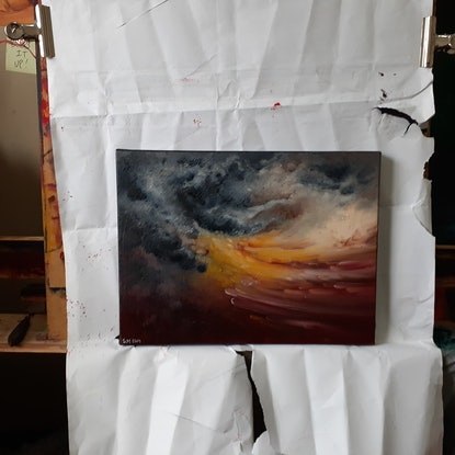 (CreativeWork) Oceans Of Storms 1 by Scott Maxwell. Oil Paint. Shop online at Bluethumb.