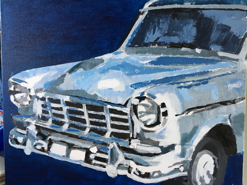 (CreativeWork) FC Holden by Christopher Steele. Oil Paint. Shop online at Bluethumb.