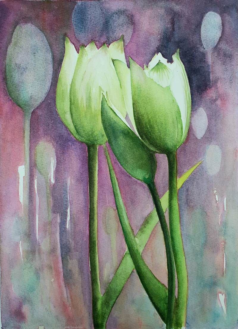 (CreativeWork) It Must Be Spring by Lucinda Leveille. Watercolour Paint. Shop online at Bluethumb.