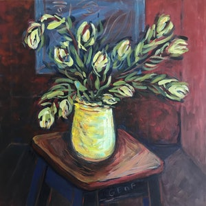 (CreativeWork) Still Life after Pruning with Matisse in Mind by Susan Ruming. #<Filter:0x00005558c94d7908>. Shop online at Bluethumb.