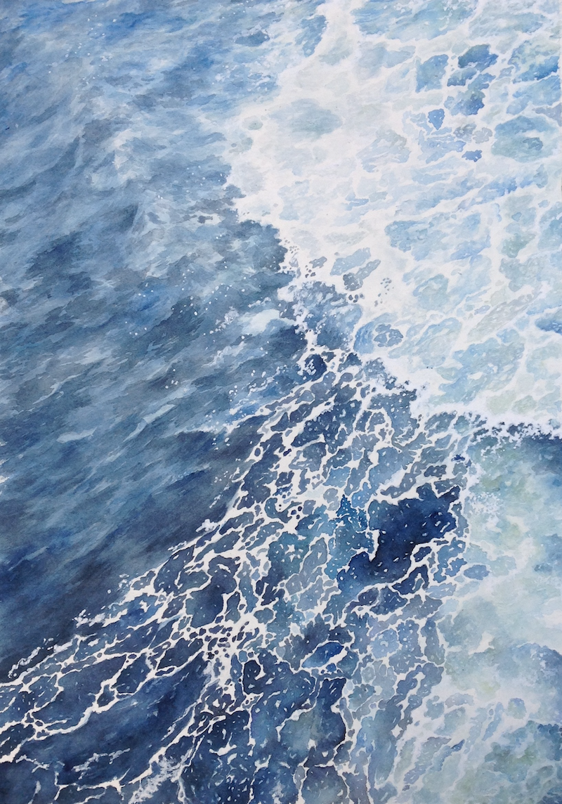 (CreativeWork) Aerial Swell by Linda Parkinson. Watercolour Paint. Shop online at Bluethumb.