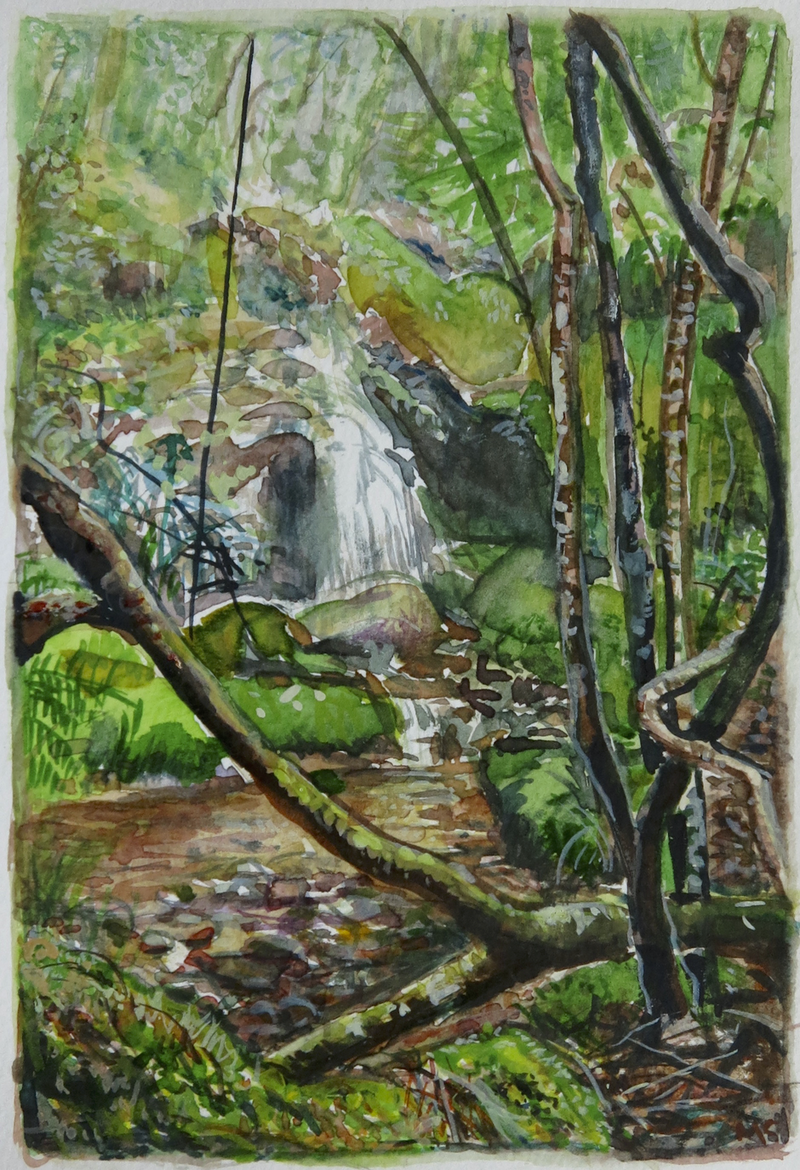 (CreativeWork) Jungle Circuit 16 by Meredith Cooper. Watercolour Paint. Shop online at Bluethumb.