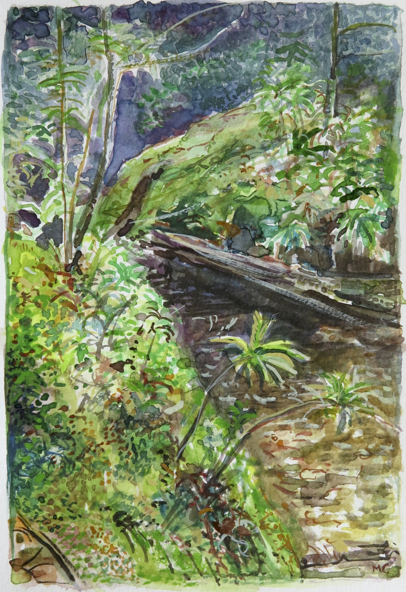 (CreativeWork) Jungle Circuit 19 by Meredith Cooper. Watercolour Paint. Shop online at Bluethumb.