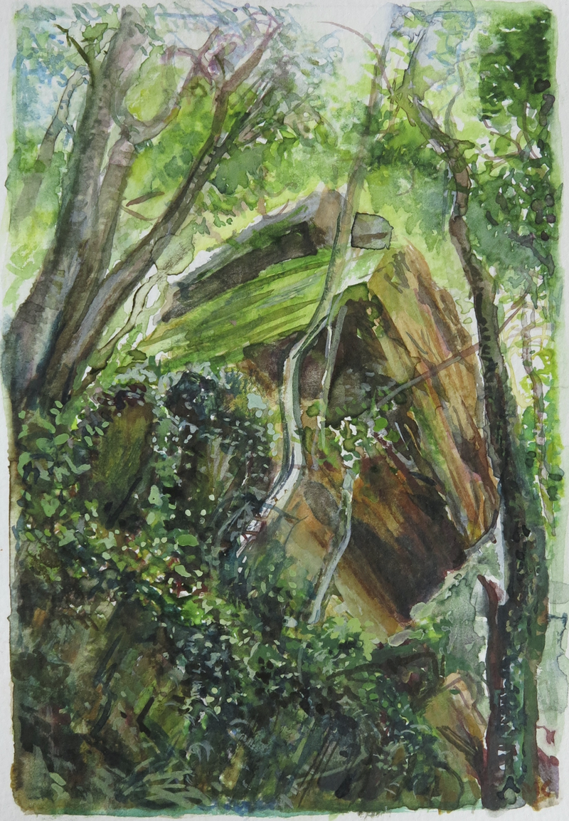 (CreativeWork) Jungle Circuit 13 by Meredith Cooper. Watercolour Paint. Shop online at Bluethumb.
