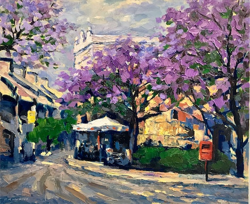 (CreativeWork) Spring in Paddington by Fangmin Wu. Oil Paint. Shop online at Bluethumb.