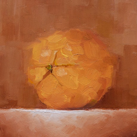 (CreativeWork) Juicy Valencia Orange No.2 by Damien Venditti. Oil Paint. Shop online at Bluethumb.