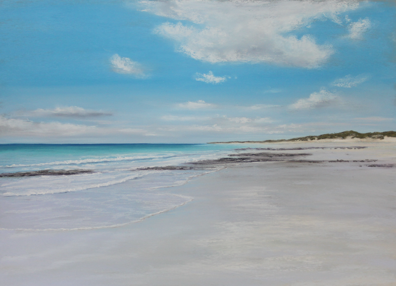 (CreativeWork) Shore Reflections  by Ann Steer. Drawings. Shop online at Bluethumb.
