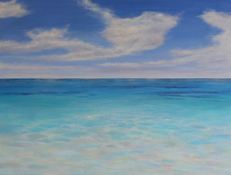 (CreativeWork) Serene by Ann Steer. Acrylic Paint. Shop online at Bluethumb.