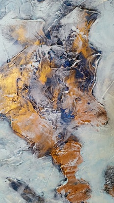 (CreativeWork) Misty Water (Reclamation) by Jan Naylor. Mixed Media. Shop online at Bluethumb.