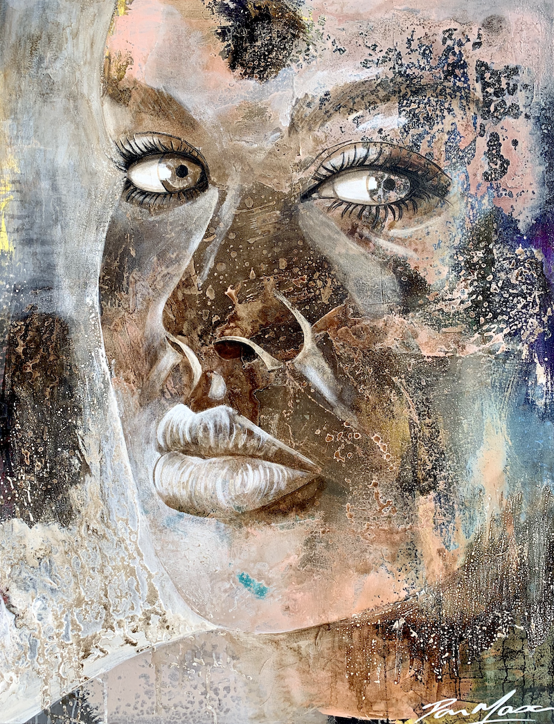 (CreativeWork) We Are  Stardust by Dan Mason. Mixed Media. Shop online at Bluethumb.
