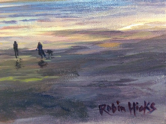(CreativeWork) Golden Hour  by Robin Hicks. Acrylic Paint. Shop online at Bluethumb.