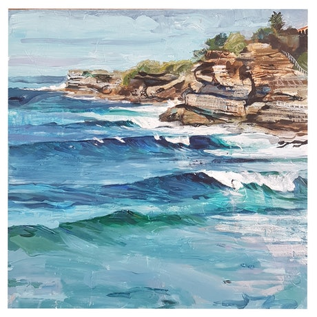 (CreativeWork) 'Northern Beaches.' by Sophie Sorella. Mixed Media. Shop online at Bluethumb.