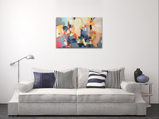 (CreativeWork) Party Lights by Tulika Das. Acrylic Paint. Shop online at Bluethumb.