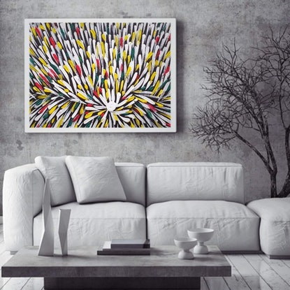 (CreativeWork) THE SOUND OF SILENCE by Krissy McDougall. Acrylic Paint. Shop online at Bluethumb.