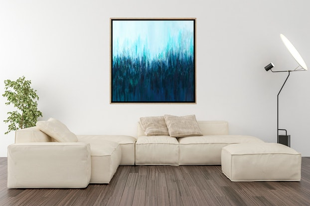 (CreativeWork) Blue Note by Gareth Butcher. Acrylic Paint. Shop online at Bluethumb.