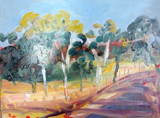 (CreativeWork) Turning right by Rachel Carroll. Oil Paint. Shop online at Bluethumb.