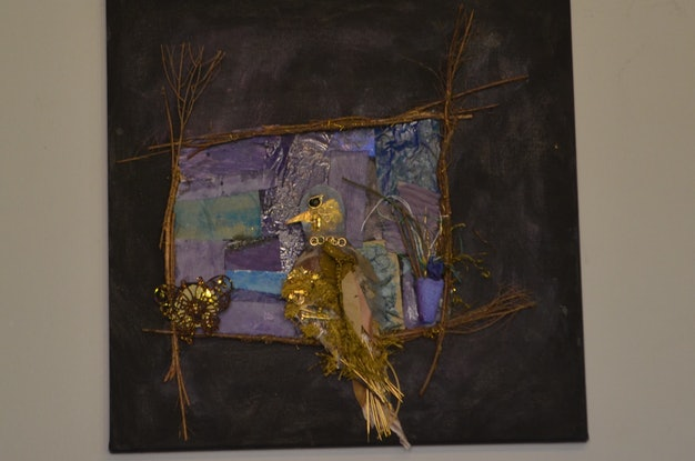 (CreativeWork) Golden Dove by Melanie Duncan. Mixed Media. Shop online at Bluethumb.
