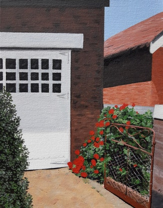 (CreativeWork) Suburban Driveway by Dianne Whipper. Acrylic Paint. Shop online at Bluethumb.