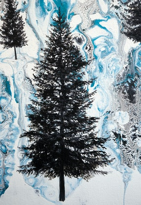 (CreativeWork) Winterland by Brigitte Ackland. Acrylic Paint. Shop online at Bluethumb.