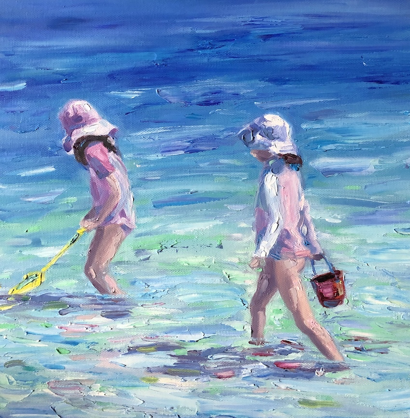 (CreativeWork) Bucket + Spade by Jo Meredith. Oil Paint. Shop online at Bluethumb.