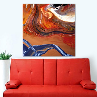 (CreativeWork) Abstract #61 by Brigitte Ackland. Acrylic Paint. Shop online at Bluethumb.