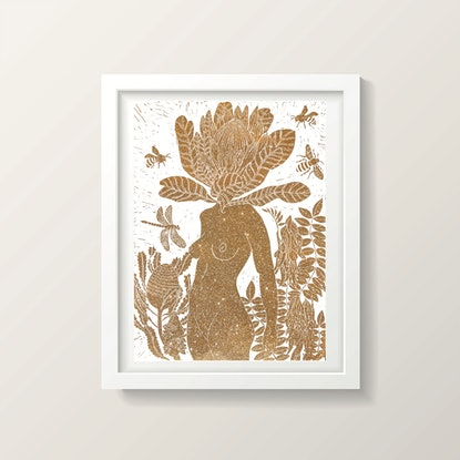 (CreativeWork) Golden Penny Protea Ed. 8 of 75 by Marinka Parnham. Print. Shop online at Bluethumb.