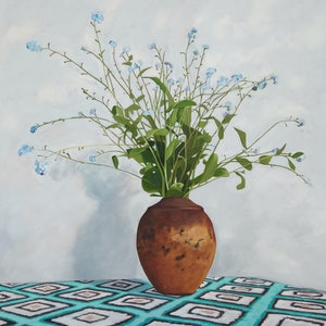 (CreativeWork) Forget me not by Sandra Jenkins. #<Filter:0x0000557e93d21cb8>. Shop online at Bluethumb.